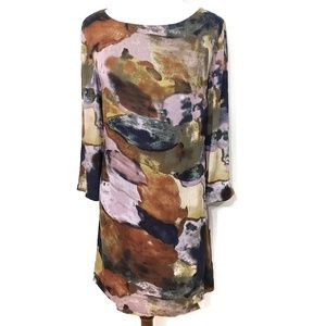 Maeve Eleonora Watercolor Shift Dress